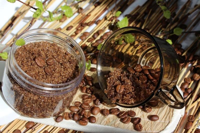 Кофейный скраб в баночке фото