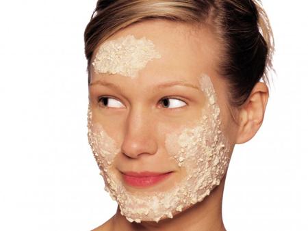 Овсяная маска на лице фото