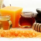 Мед и соль для маски фото