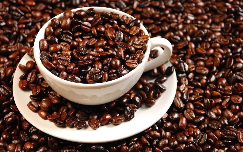Кофейные зерна в чашке фото