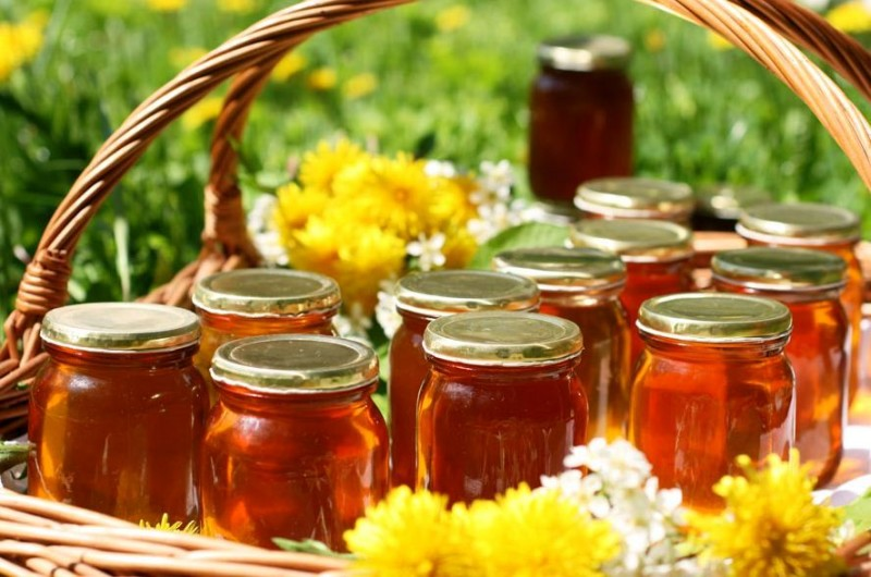 Мед в баночках фото