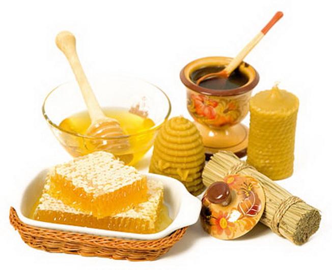 Продукты пчеловодства в блюдечках фото