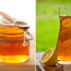 Фото чаши, лимона и медовой капли