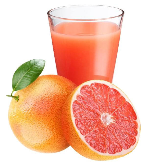 Фото грейпфрута и стакана с соком