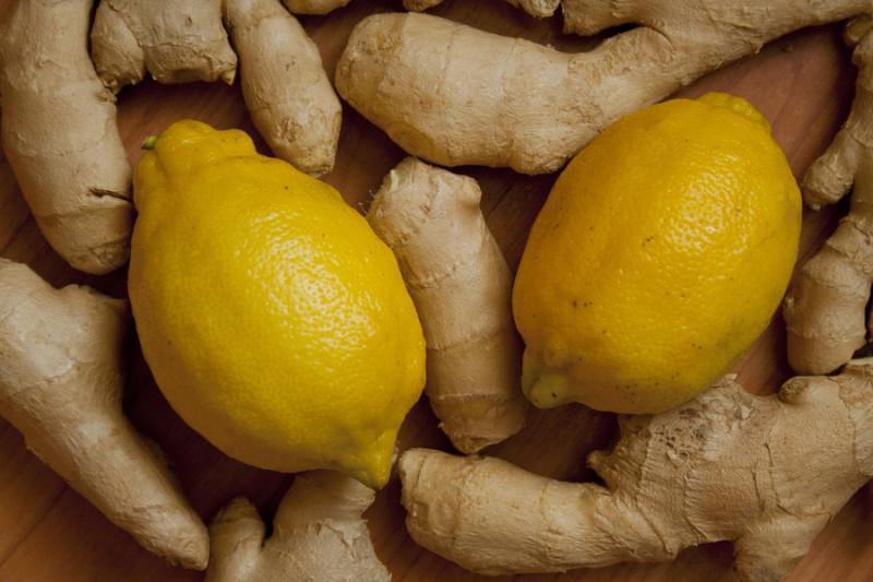 Фото лимона и имбиря