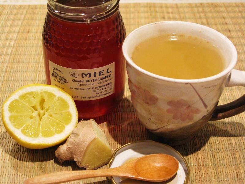 Фото меда, цитруса и корня имбирного