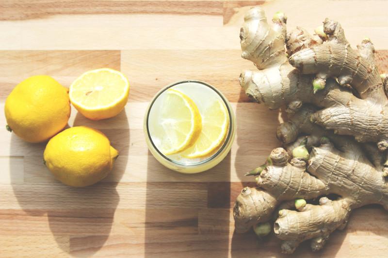 Фото натюрморта с имбирем и лимоном