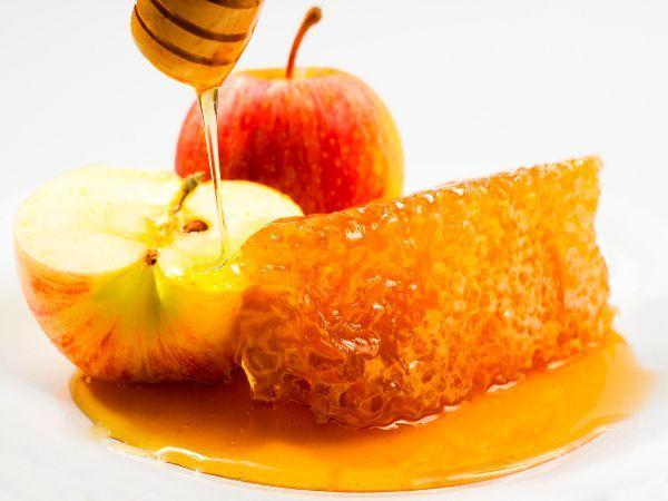 Фото сот с яблоком