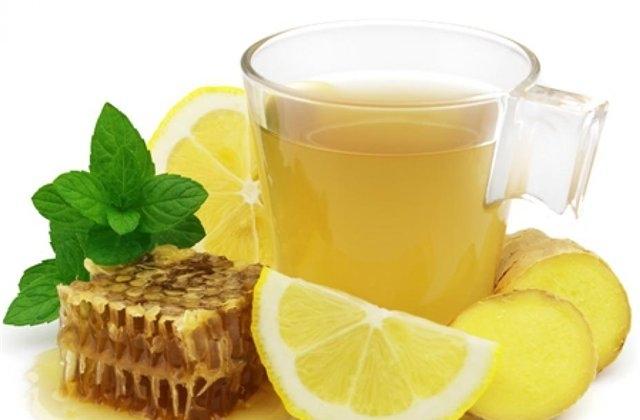 Фото чая из лимона, имбиря и меда