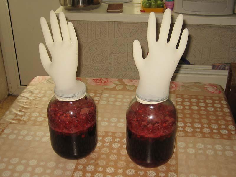 Гидрозатворы из перчаток
