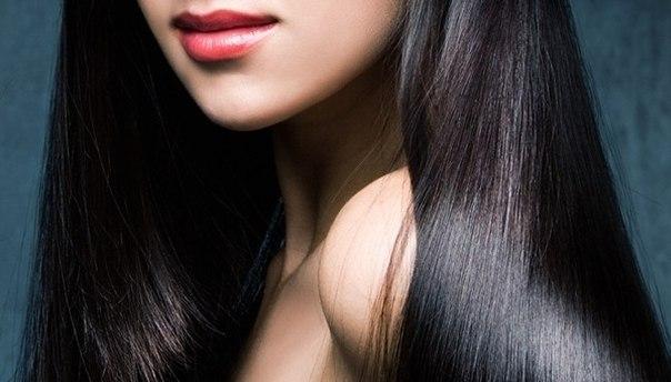 Темные блестящие волосы