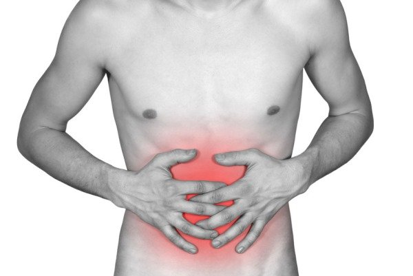 Схематическое изображение боли при гастрите