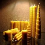 Декоративные свечи из пчелопродукта