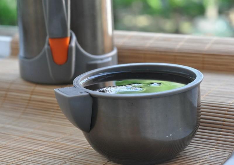 Чашка и термос с настоем