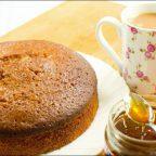 Бисквитный кекс на меду