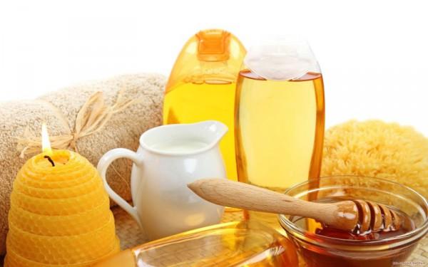 Масло оливковое и мед