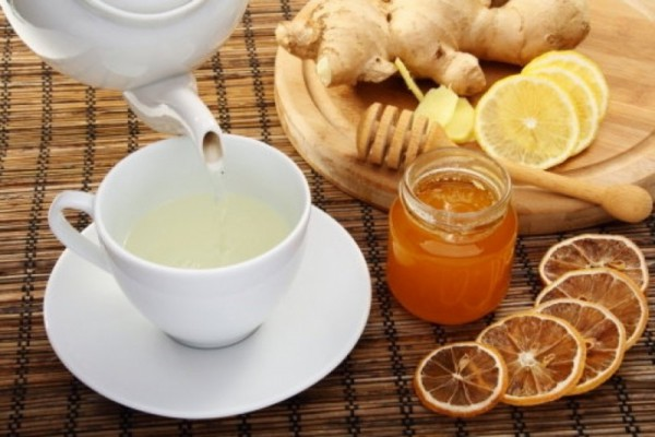 Чай, мед и лимон