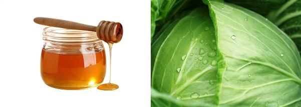 Мед и капуста крупным планом