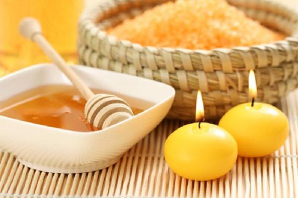Свечи и мед для бани