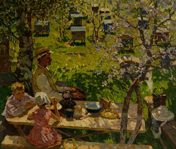 Яблочный праздник в деревне