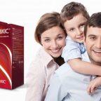 Упаковка Intoxic на фоне семьи