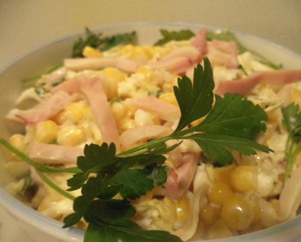 Блюдо с кукурузой с красивой подачей