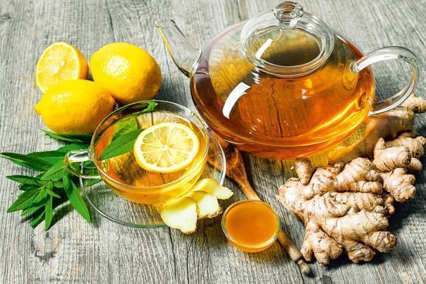 Рецепты имбирного чая с мёдом и лимоном