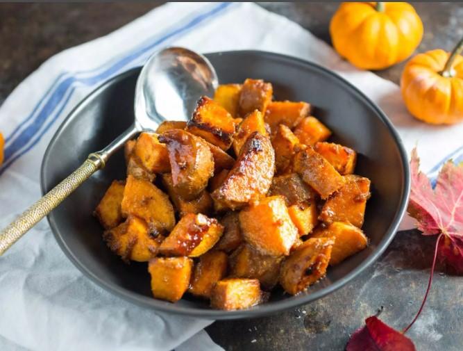 Запеченный сладкий картофель с медом — самый быстрый пошаговый рецепт